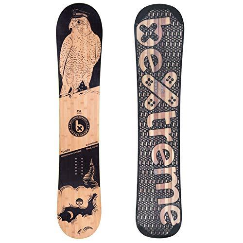 Bextreme Tabla Snowboard Freestyle y Freeride Twist 2021. Eco-Board Hecha de Bambu, Haya y álamo. Medidas 152, 157 y 160cm Wide. Snow para Hombre y Mujer