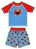 Sesame Street Elmo Baby Boys Rash Guard Swim Trunks Set Red and...