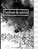 Cuaderno de música: Cuaderno de pentagramas, papel pautado de pentagramas - 120 páginas ...