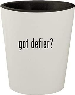 got defier? - White Outer & Black Inner Ceramic 1.5oz Shot Glass