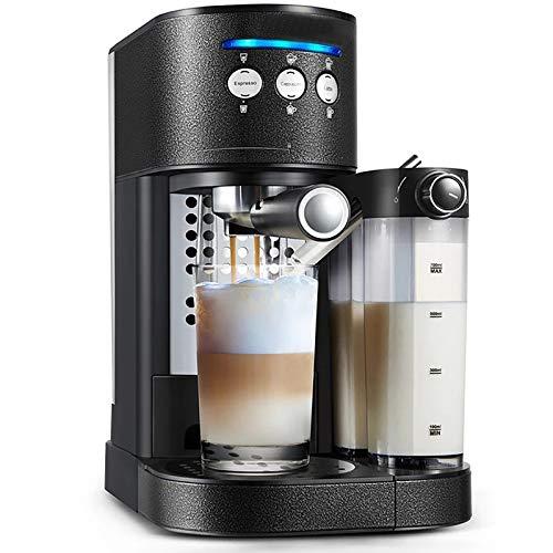 Denghl Cafetera Express semiautomática y Multifuncional, ordeñadora incorporada,...