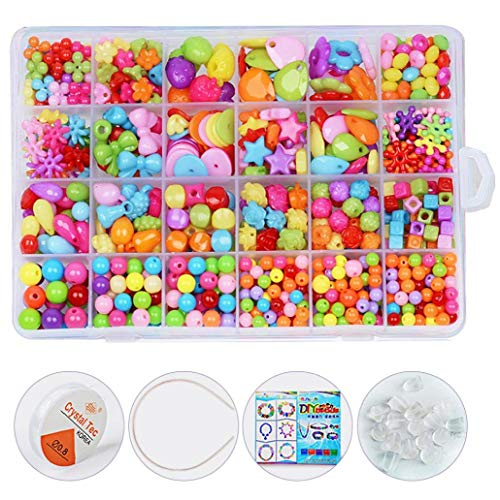 DierCosy 24 Rejillas Granos del Arte DIY Bolas Kit acrílico joyería Que Hace el Juguete Educativo Rebordear Hacer a Mano Conjunto temprana para niños 550pcs