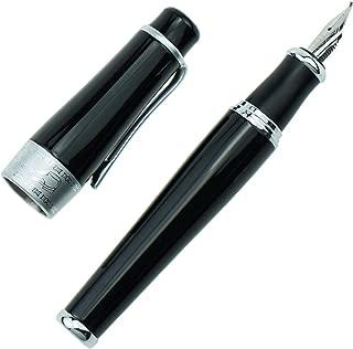 Charlie Chaplin Commemorative Black Fude Pen, Chinese Calligraphy Bent Nib Black Fountain Pen Fine to Broad by Duke