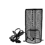 POFET E27 Pet Ceramic Heating Lamp Heater Holder Reptile Infrared Heat Bulb Holder with Anti-hot Bracket for Lizard Turtle