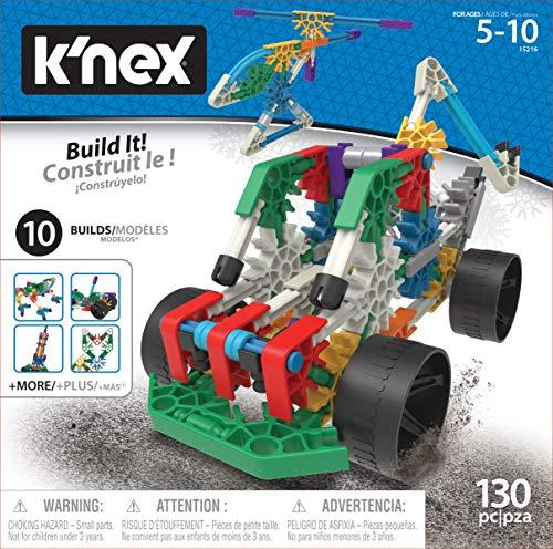 K\'Nex 36178 - BAU- und Konstruktionsspielzeug Set 10 in 1, STEM Baukasten, Konstruktionsset für 10 Modelle, Bauset mit 130 Teilen, Spielset Fuer Kinder von 5 - 10 Jahre