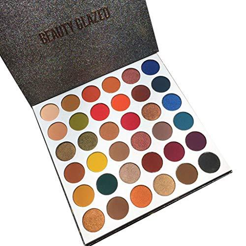 RoMantic 36 Couleurs Ombre à Paupière Matte & Shimmer, Palette de maquillage hautement pigmentée, Longue Durée Palette de Fard à Paupière (A)