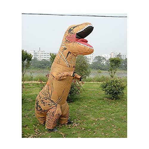 F.A.N.G.YUN 7.2 Pies Divertido Traje Inflable de Dinosaurio de Halloween Ropa Inflable Tyrannosaurus Ropa de Cosplay de Escenario para Pascua, Navidad,Celebración Navideña con Soplador