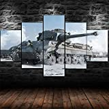 CINRYTN Prints On Canvas Artwork Abstract 5 Canvas Wall Art Tiger II World War Tank Picture Modular Wallpapers Modern Living Room Home Decor Mural Hd Print Poster