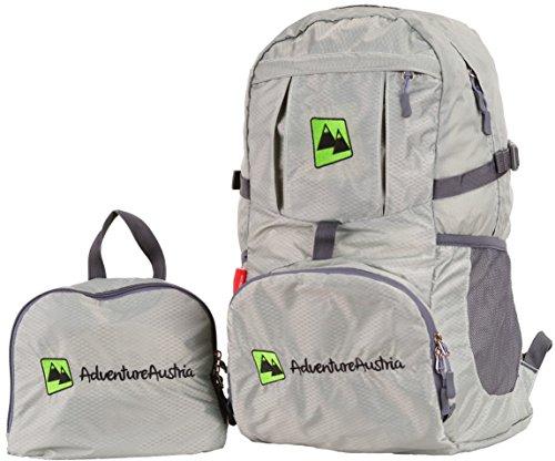 Sac à Dos Pliable de Voyage Gris 35L - Léger Pratique Résistant à l'eau Backpack Parfait pour la Randonné Le Vélo et Les Activités de Plein Air etc. pour Les Femmes Hommes et Enfants. (Gris)