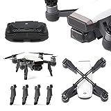 Rantow Ensemble d'accessoires d'étincelles, caméra de Protection de cardan + rallonge de Hauteur d'atterrissage + protège-Pouce + Pince de Fixation d'hélice pour DJI Spark Drone