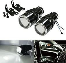 iJDMTOY (2 2.25-Inch Projector Fog Light Lamps for Most Car SUV Truck Bike Add-On or Retrofit DIY