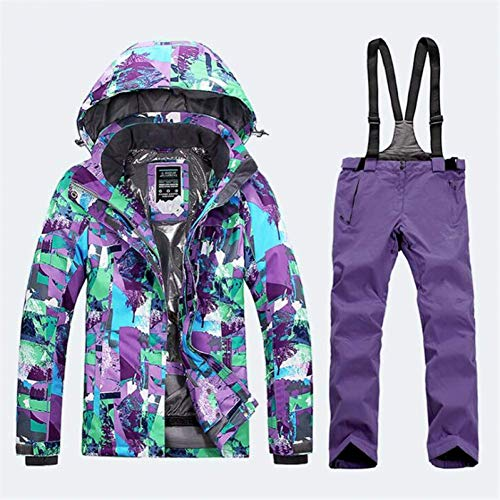 BCOGG Damen Bekleidung Ski Jacke Damen Ski Hose Damen Mountain Ski Outdoor Winter Warm Windbreak Anzüge L