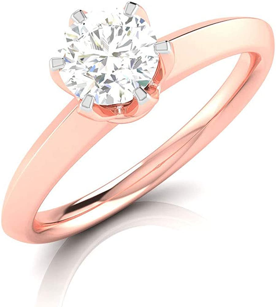 Antique It Selling rankings is very popular Prong Set 1 2 Ct Engagement Solitaire ring Diamond Gold