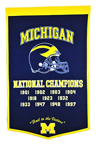 Winning Streak Sports NCAA Michigan Wolverines Dynasty Banner - Wall Decor for College Sports Fans