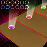 Cornhole Lights, 16 Colors Change Cornhole Board Ring LED Lights with Remote Control for Family Backyard Bean Bag Toss Cornhole Game, 2 Sets