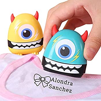 Little Devil Name Stamp No-Iron Kids Fabric Clothing Labels,Name Stamp for Clothing,Customized Name Non-Fading School Uniform Stamp 6 Cartoon Styles and 36 Cartoon Patterns Suitable for Boys and Girls