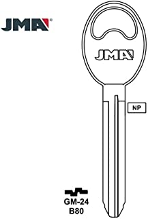 1990-2006 JMA Blank Key Replacement for Chevrolet Suzuki Toyota/ B80 / X225 (Packs of 10)