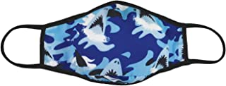iscream Child's Sharks Ahoy! Double Layer Face Covering with Pocket