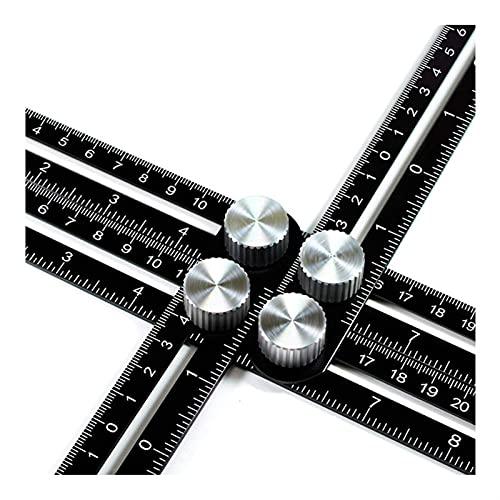Buscador de regla de ángulo Aleación de aluminio Folleado Regla de medición de la plantilla de la plantilla de la plantilla del ángulo del ángulo de la herramienta de diapositivas de diapositivas con