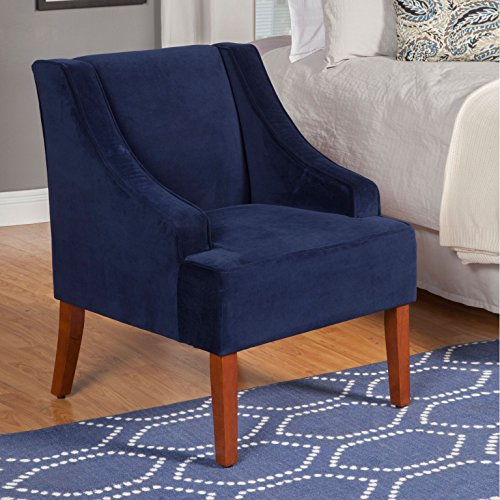 The HomePop Swoop Chair is a beautiful comfortable chair for small spaces in your home