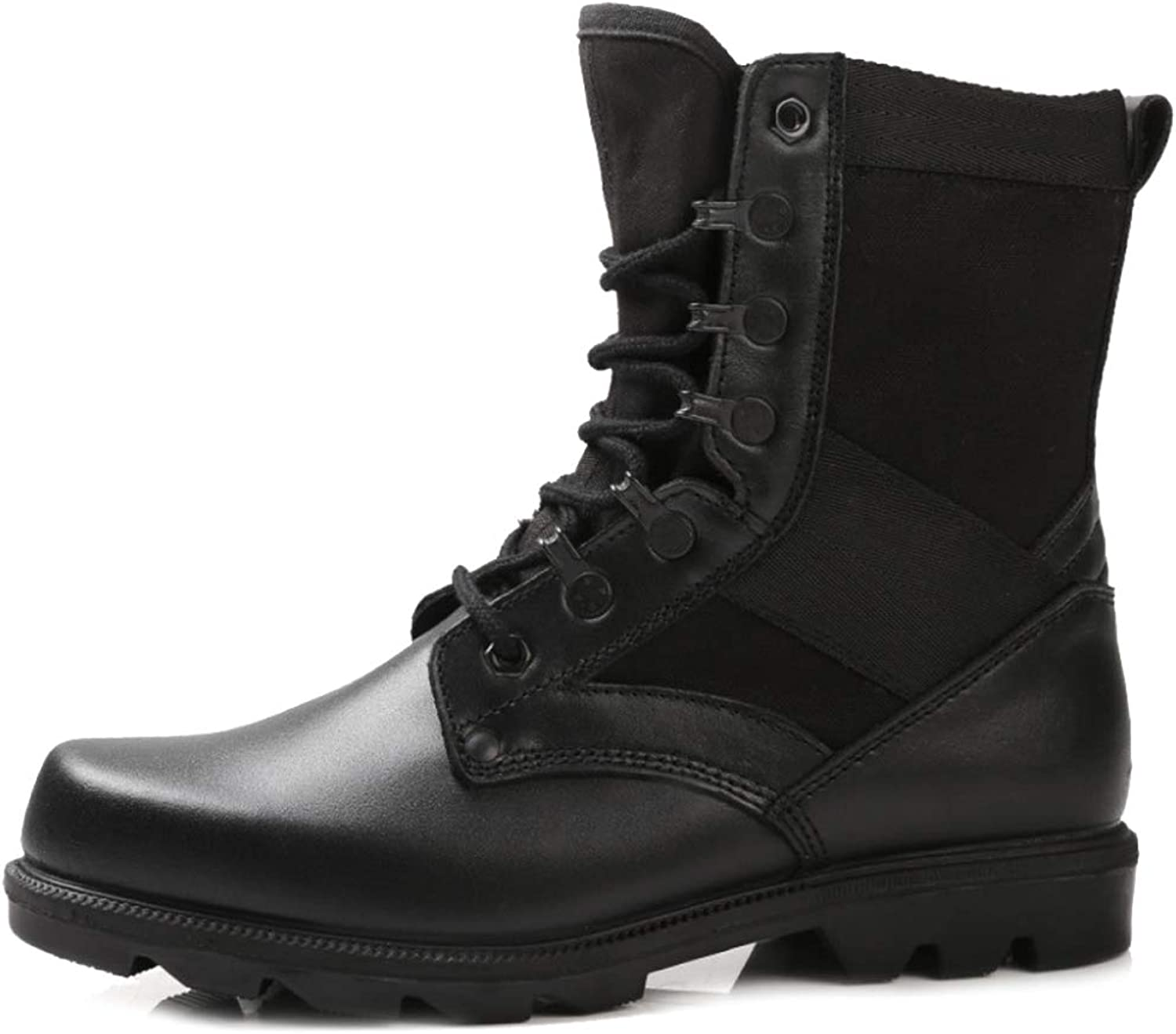 DSFGHE Herrenstiefel Combat High-Top Martin Stiefel Military Lace Tactical Up Stiefel Schuhe
