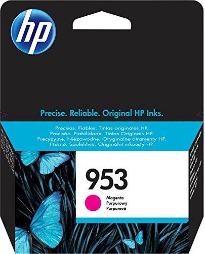 HP 953 Magenta Original Ink Cartridge - Cartucho de tinta para impresoras (Magenta, Estándar, HP,...