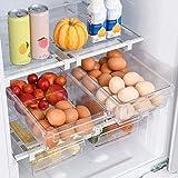 HapiLeap Organizador de frigorífico para huevos, organizador de cajones para...