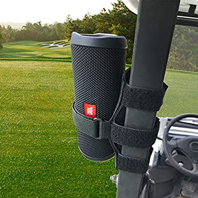 HomeMount Golf Cart Speaker Mount, Adjustable Strap Holder Fits Most Portable Sound Bar, Golf Cart Accessories Applicable to Railing/Frame/Bike Handlebar