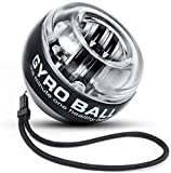 Fashion Choice Products Auto Star Gyro Power Wrist Ball & Forearm Exerciser w/LED Lights for Stronger Arm Fingers Wrist Bones and Muscle Black