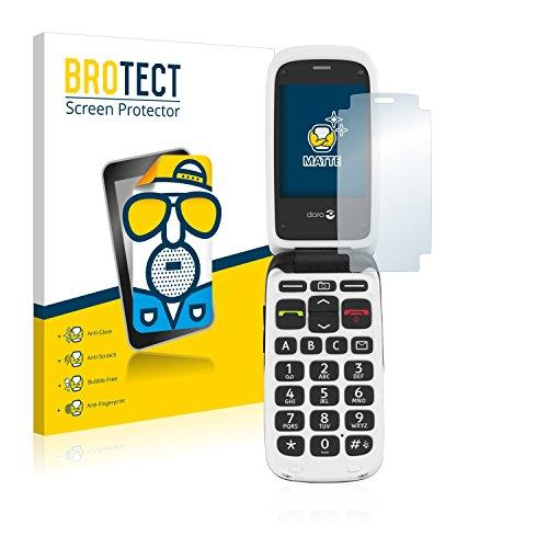 BROTECT 2X Entspiegelungs-Schutzfolie kompatibel mit Doro PhoneEasy 612 Bildschirmschutz-Folie Matt, Anti-Reflex, Anti-Fingerprint