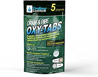 Drain & Pipe Oxy-Tabs. Build-Up Remover in Drains, Pipes, Sinks, Toilets & Showers. Oxygen and Billions of Safe microbes Break Down Household Debris to Prevent Clogs & Eliminate Musty, Food Odors (5)