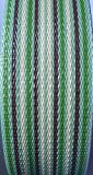 WebbingPro(TM) Lawn Chair Webbing Kit - Green Stripe Lawn Chair Webbing 3 Inches Wide 50 Feet Long Roll and 30 Webbing Screws