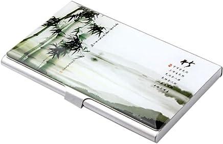 Chinoiserie Edelstahl Handelsname-Kredit-ID-Kartenhalter-Kasten,B : B�robedarf & Schreibwaren