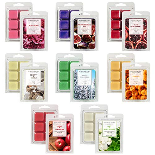 LASENTEUR Scented Wax Melts, Wax Cubes, Wax melt Wax Cubes Gift Set for Women, Natural Soy Wax Cubes of Home Fragrance, Wax Cubes for Candle Wax Warmer Wax Melt Burners, Soy Wax melt, Natural Wax