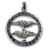 Odin es Raven lámpara de techo 925 joyas de plata de ley, lámpara de techo colgante con ojales: 3,8 cm