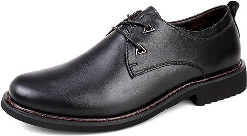 Chaussures de de Ville pour Hommes Oxford Simple Classique à Bout Rond en Cuir  jusqu'à 65% de réduction