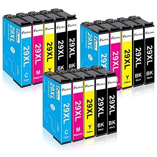 SavFinto 29XL Cartuchos de tinta de Repuesto para Epson 29 XL para Epson Expression Home XP-235 XP-245 XP-247 XP-255 XP-257 XP-332 XP-335 XP-342 XP-345 XP-352 XP-355 XP-432 XP-435 XP-442 XP-452 XP-455