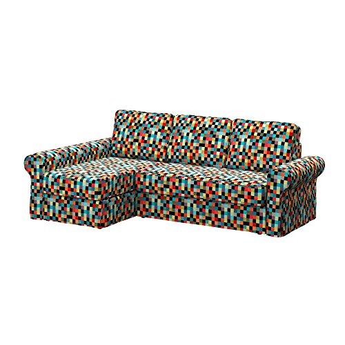 Soferia - IKEA BACKABRO Funda para sofá con chaiselongue, Mozaik Red