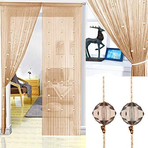 AIFENTE Rideaux à fils - Moustiquaire - Pour portes - Rideau de porte - Panneau de perles - Rideau anti-mouches