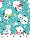 Fat Quarter Frosty Forest Schneemänner (Weihnachten,