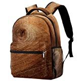 Wood Bark Texture Use Natural Backpack School Backpack Book Bag Casual Daypack