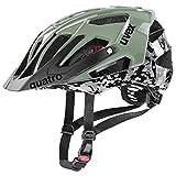 Uvex Quatro Casco de Bicicleta, Unisex-Adult, pixelcamo-Olive, 52-57 cm