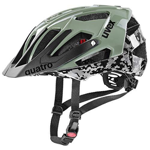 uvex Unisex– Erwachsene Quatro Fahrradhelm, pixelcamo-Olive, 56-60 cm