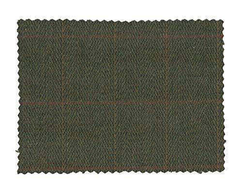 Walker and Hawkes - Tweed-Stoff - aus 60% Wolle - kariert - Dunkles Salbeigrün - 100 x 150cm
