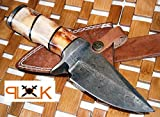 Custom Handmade Damascus Steel knife (59-40) (Colors/Case may vary)