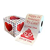 Happy First Anniversary Toilet Paper Funny Gift