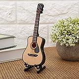 Yisentno Mini Guitarra Miniatura Instrumentos Musicales de Madera Modelo Ornamento artesanía Regalo + Estuche(16cm)