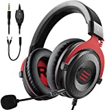 EKSA Xbox One Headset, Gaming Headset, PS4 Headset, PC Gaming Headphones with Noise Cancelling Mic, Soft Memory Earmuffs for PC, Mac, Laptop, Video Games with Detachable Microphone Volume Control