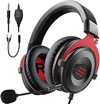 EKSA Xbox one Headset, Gaming Headset, ps4 headset, PC Gaming headphones with Noise Cancelling Mic Soft Memory Earmuffs for PC, Laptop, Video Game with Flexible Microphone Volume Control