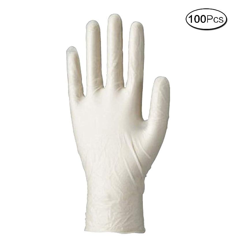 旅行者機転皿使い捨て手袋 マイスコPVCグローブ 粉なし (サイズ:M)100枚入り 病院採用商品